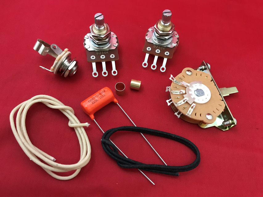 Telecaster Upgrade Guitar Wiring Kit With Orange Drop Tone Cap  Switch And Wire