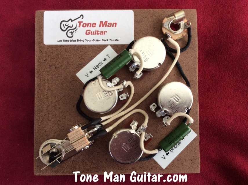 guitar tone improvement vintage 50s tone tone man guitar sg gibson prewired wiring harness vintage k42y 2 pio russian caps 3 way switch