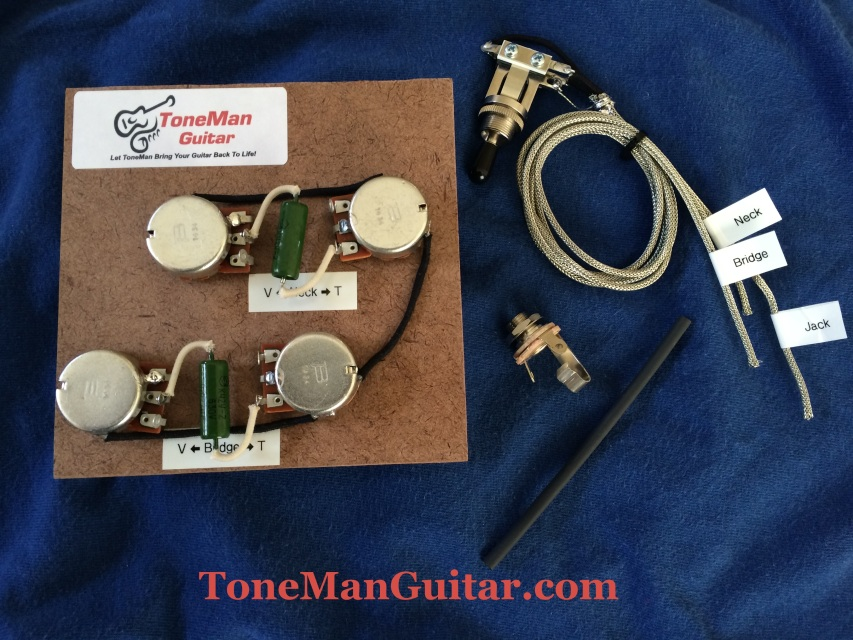 guitar tone improvement vintage 50s tone tone man guitar gibson les paul prewired 50s wiring harness long shaft pots k42y 2 pio vintage russian tone caps 3 way switch harness