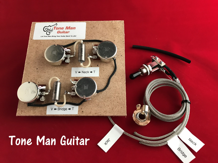 1981 gibson les paul wiring harness epiphone gibson les paul guitar upgrade wiring kit gibson les paul prewired 50s wiring harness long shaft #11