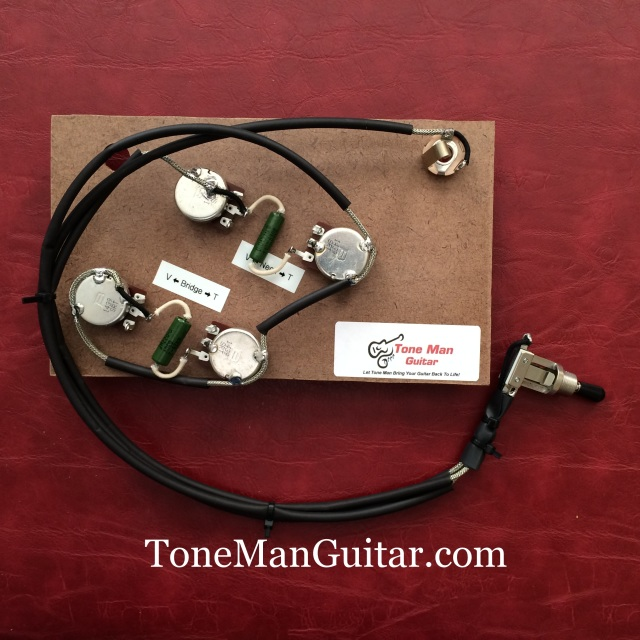 gibson epiphone es175 prebuilt upgrade wiring kit pio tone caps for rh tonemanguitar com vintage wiring harness ford vintage wiring harness parts