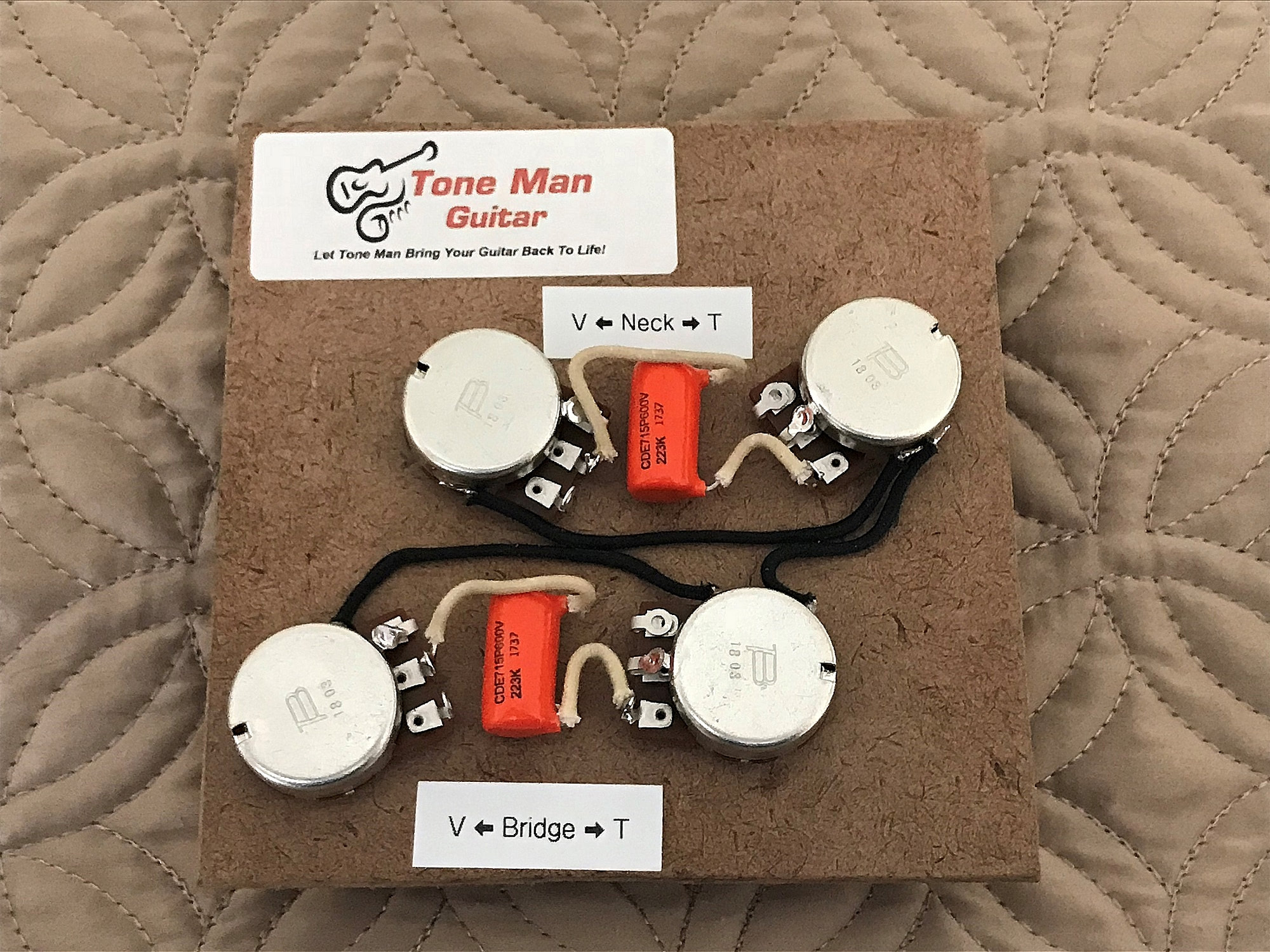 gibson les paul prewired wiring guitar kit with orange ... gibson les paul standard wiring harness gibson les paul prewired 50s wiring harness long shaft