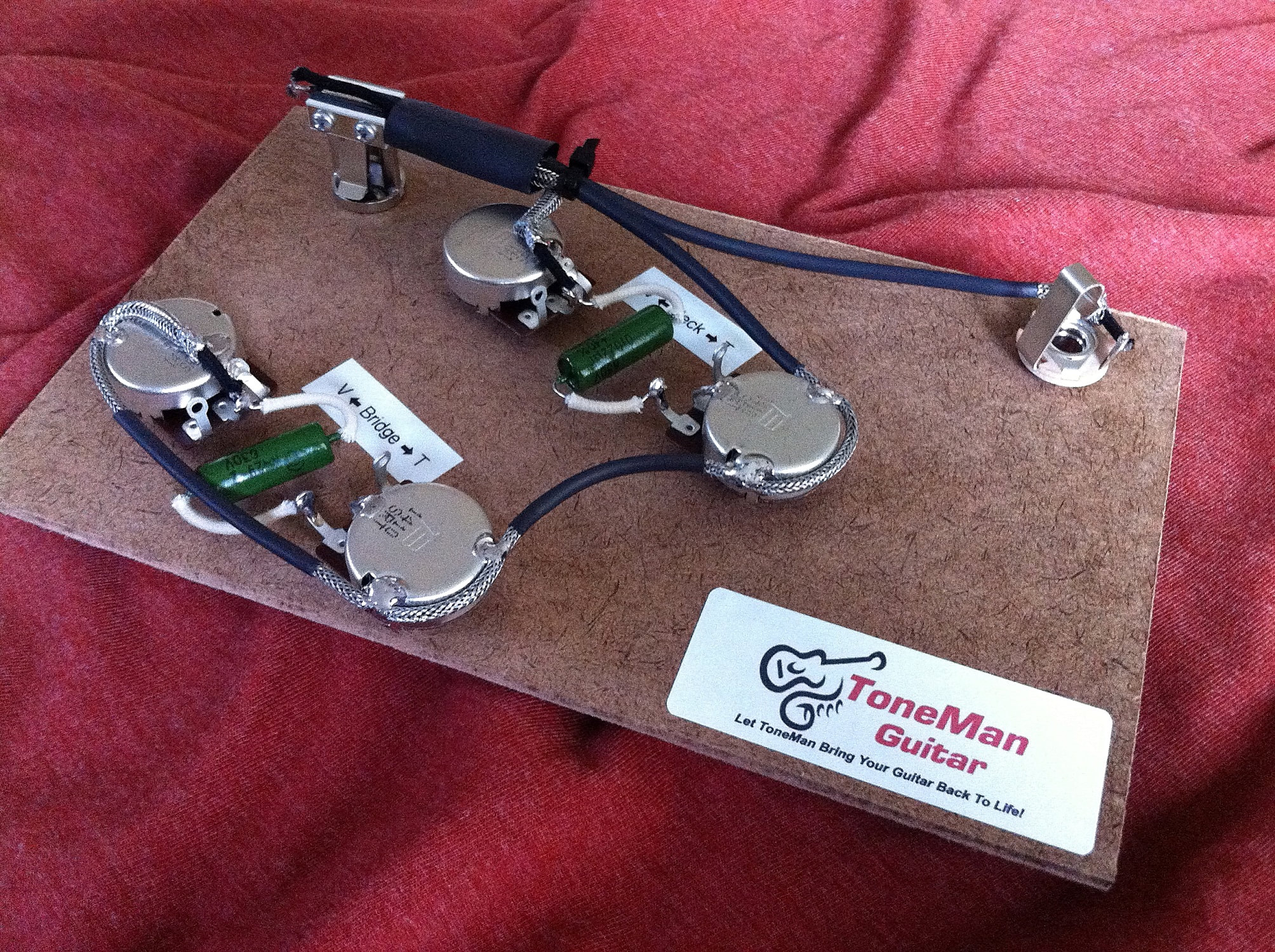 Ibanez Artcore Hollow AF/AG 75 / 73 Prebuilt Wiring Harness kit with on